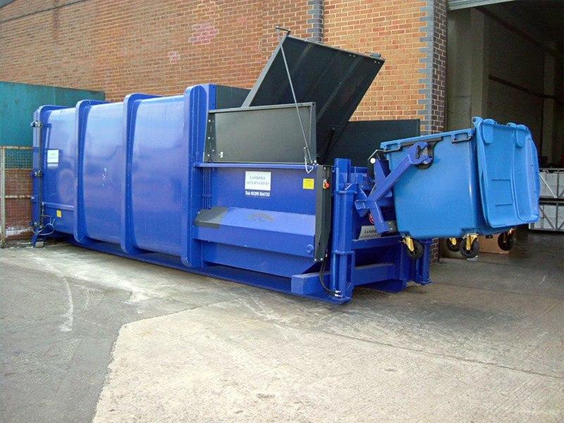 APB20 bin tipper blue
